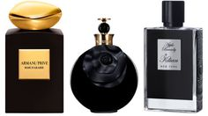 (Left to right) A true floral focused on the Damascena rose; a richer version of the original floral with hints of bergamot, rose essence, saffron and patchouli; smoked wood coupled with vanilla, ambroxan (sugars from Cognac) as well as apple liqueur. Giorgio Armani Prive Rose d'Arabie Intense, $275, giorgioarmani-beauty.us; Valentino Limited Edition Assoluto Oud, $150, neimanmarcus.com; Apple Brandy by Kilian, $235, available at the Kilian Boutique in NYC.