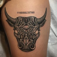 Image result for taurus tattoo on back