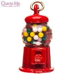 Red Gumball Machine Charm