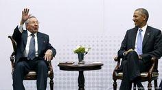 US-Präsident Obama und Präsident Raul Castro beim Amerika-Gipfel in Panama