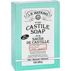J.r. Watkins Bar Soap - Castile - Clary Sage - 8 Oz