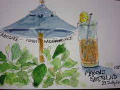 Watercolor journal entry, Tisha Sheldon