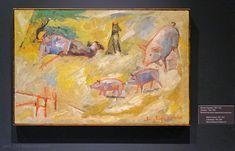 Михаил Ларионов (1881-1964). Свинопас, 1906-1909. Московский музей современного искусства