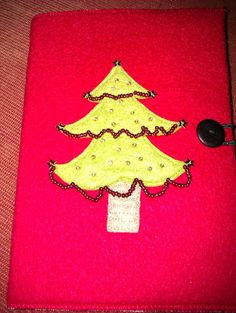 A6 Christmas felt notebook and cover