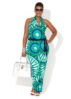 Ashley Stewart Search Results No Products Were Found Page Title Big Girl Fashion, Diva Fashion, Curvy Fashion, Plus Size Fashion, Womens Fashion, New Years Eve Outfits, Halter Jumpsuit, Plus Size Jumpsuit, Curvy Plus Size
