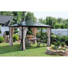 Gartenpavillon: Sonnenschutz Im Frühjahr - Leco Werke | Terasse ... Gartenpavillon Aus Aluminium