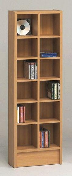 Double CD Multimedia 12-Shelf Storage Rack