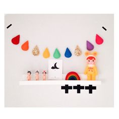 Rainbow Raindrop Garland by VelveteenBabies on Etsy