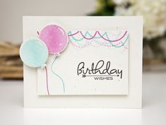 Birthday Wishes Card by Ashley Cannon Newell for Papertrey Ink (March 2013)