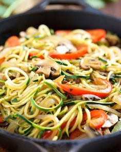 Tallarines de verduras | #Receta de cocina | #Vegana - Vegetariana ecoagricultor.com