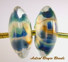 Glass Lampwork Bead Set Made To Order The Shoals Disks