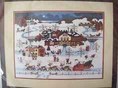 """Tis the Season (1994) Charles Wysocki counted cross stitch Yuletide design,--I've done this"