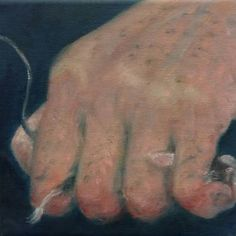 """""""Your Life In My Hands""""  (2015) oil, ink and gouache on canvas 20cm x 20cm x 1.5cm"""