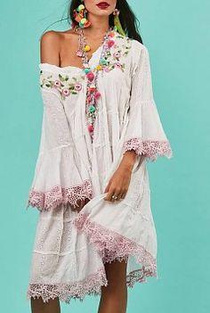 Antica Sartoria Dress - White / Pink