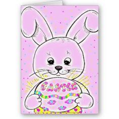 $3.15 #cards #easter #bunny #zazzle #elenaindolfi Easter Bunny Card by elenaind