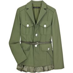 Twill military jacket Marc Jacobs (€580) ❤ liked on Polyvore featuring outerwear, jackets, coats, tops, women, field jacket, marc jacobs jacket, marc jacobs, flap jacket and twill military jacket