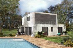 Maison Nouvoitou - Plan de maison Moderne par Archionline