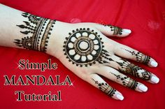 How To: Simple Mandala Tutorial Healthy Dinners For Kids, Healthy Recipes On A Budget, Mandalas Painting, Mandalas Drawing, Mehndi Designs For Fingers, Henna Designs, Henna Mehndi, Mehendi, Zentangle