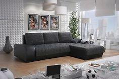 LEON 3 L Couch Couchgarnitur Sofagarnitur Wohnlandschaft Sofa Mit  Schlaffunktion | EBay