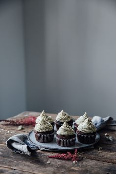 Chocolate-Beetroot-Cupcakes with Cashew-Chia-Frosting from the Edeka Food Labs Event