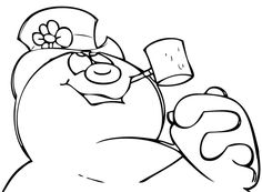 frosty snowman coloring pages - Frosty Snowman Coloring Pages