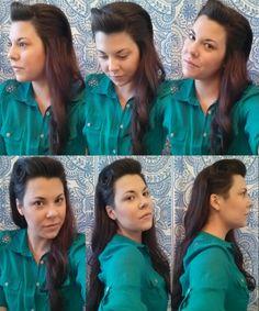 Retro pin curl Bouffant sidecut hairstyle (Source: Allbutgrey@Tumblr)