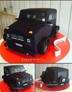 Car Fondant Cake Mercedes G Brabus