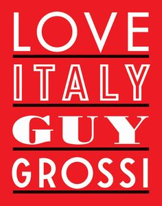 """It's been  bit of a Guy Grossi week for us, so we will end it with """"Love Italy."""" Any book willing to open with a recipe for home made blood sausage has to be worth a look!"""