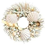 Add a coastal theme to your home décor with the Shoreline Wreath and fill your home with a wonderful aroma. The artistically designed wreath is comprised of exotic botanicals from around the world that scent your home with high quality, fine fragrance. Coastal Wreath, Seashell Wreath, Nautical Wreath, Coastal Decor, Seashell Crafts, Seashell Projects, Driftwood Wreath, Seashell Ornaments, Driftwood Projects