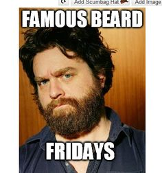 """""""My brother has ADD, which is weird because he drives a ford focus."""" This weeks featured famous friday beard is the creator of the Wolf pack - Zach Galifianakis. What is your favorite Zach Galifianakis quote? #beard #beards #beardoil #beardbalm #bearded #beardlife #beardnation #beardgang #beardsofinstagram #mustache #moustache #mustachewax #handlebarmustache #mensgrooming #facialhair #gentleman #gentlemen #dapper #beardcomb #beardconditioner #beardcare #menshair"""