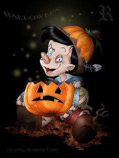 Halloween | Diabolical Pinocchio by Jonás Rebenke [©2010-2014 rebenke]