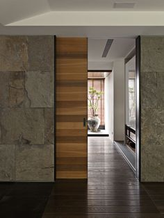modern sliding door design ideas that will be perfect for your home page 6 Sliding Door Design, Modern Sliding Doors, Modern Door, Wall Design, House Design, Design Apartment, Pocket Doors, Modern Minimalist, Windows And Doors