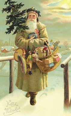 Christmas Postcard from Wien, Austria 1899 dec 24