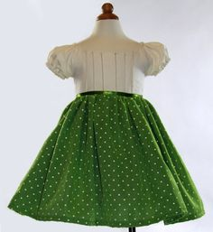Beautiful green toddler dress - perfect for the holiday season!