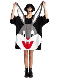 Cotton tee with patchwork design  Oversized fit (click to go to site, crazy stuff!)