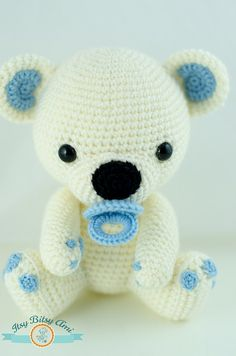 Fram, The Little Polar Bear Amigurumi Inspiración ༺✿ƬⱤღ https://www.pinterest.com/teretegui/✿༻