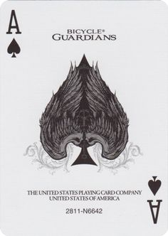 Ace of Spades from Bicycle® Guardians Playing Cards