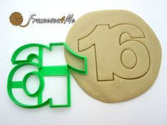Sweet Sixteen Cookie Cutter by Francesca4me on Etsy