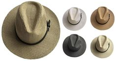 55b2a17d7c2 Women s Woven Panama Hat with Buckle Leather Band - 144 Units