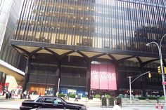 View of the south entrance to The Mall at the World Trade Center, looking north from Liberty Street on 8/21/2001..  WTC 4 is the building in most of the foreground, and WTC 2 is visible on the left of the photo.