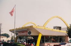 McDonald's located in Downey, CA. This was the third restaurant franchised  for the chain and is the oldest stand still in existence. Photo by Dave Bravenec