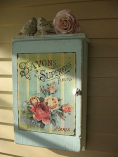 Vintage Medicine Cabinet Shabby French Chic by Fannypippin on Etsy, $68.00