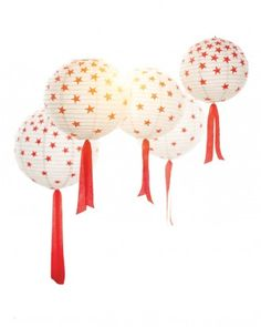 """See the """"Paper Lantern Makeover"""" in our Patriotic Red, White, and Blue Crafts and Party Decorations gallery"""