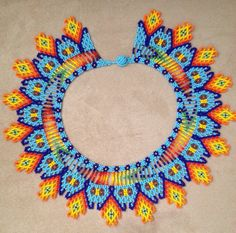 Beaded necklace with the traditional Embera Chami Tribe colours.