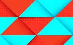 Herunterladen hintergrundbild 4k, rhomben, geometrie, streifen, abstrakt, material, kunst, lollipop, android