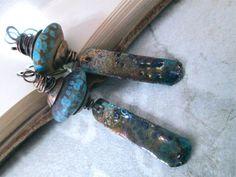 LESE MAJESTE Urban Primitive Dangle Earrings by MangledMuttStudios Handmade - Jewelry - Jewellery - Earrings