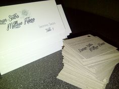 Stationery - Kraft Brown - Favor Tags and place Cards