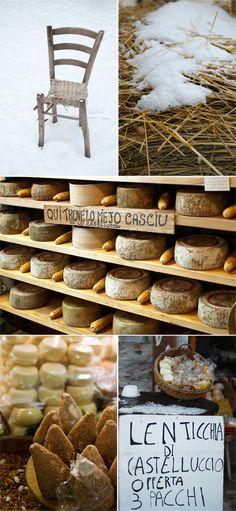 cheese - castelluccio - italy