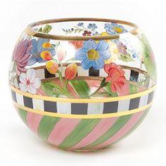 Flower Market Glass Globe Vase
