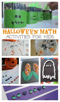 Halloween Math Activities for kids - these look so fun, I want to pick one a week for the rest of the month.